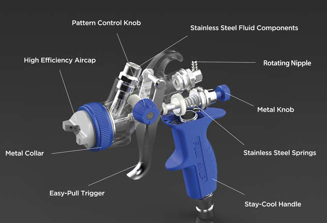 Hvlp Spray Gun And Turbine Components