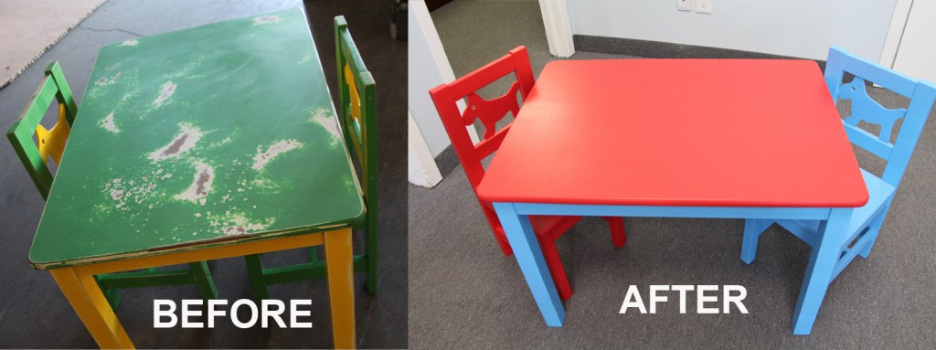 Before After - childrens table